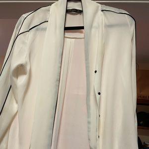 Zara tie blouse